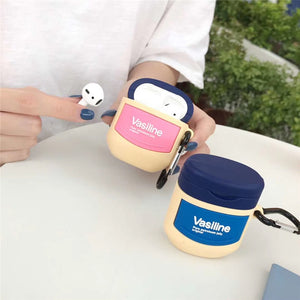 funny Vaseline silicone AirPods protector case