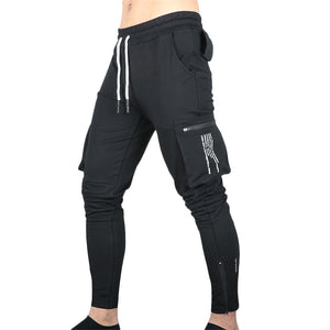 summer sports pants with multiple pockets