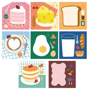 cute food printed girl gift sticky note
