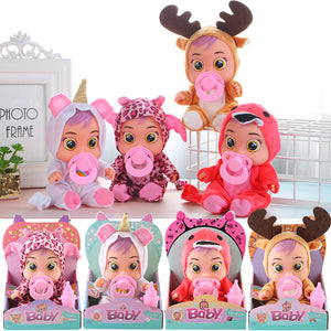 4 styles simulation cry baby doll toys