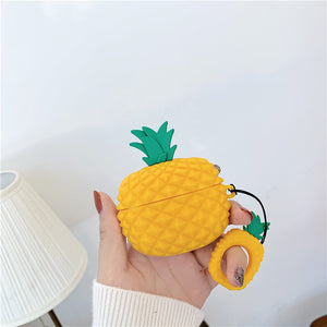 3D pineapple shaped silicone AirPods protector case