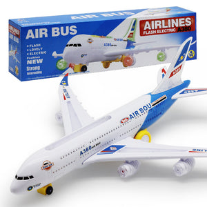 flash luminous electric aircraft model toy