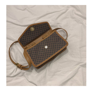 retro cross-body PU small square bag