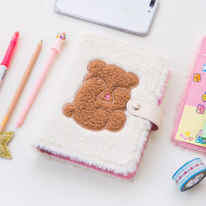 plush rabbit / teddy A6 loose leaf wired notebook