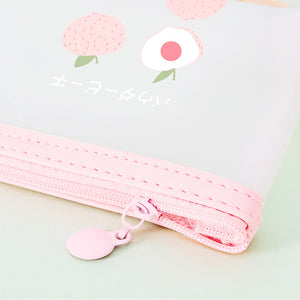 simple fruit series transparent frosted pencil case