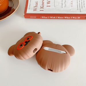 chocolate bear shaped silicone AirPods protector case