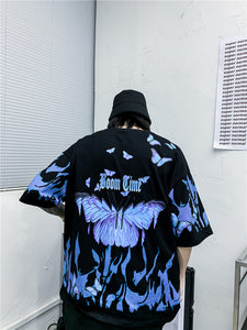 butterfly print men's T-shirt
