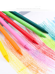 plastic color crayon iron box set