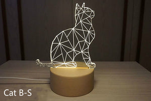 3D cat night-light gift desktop decoration