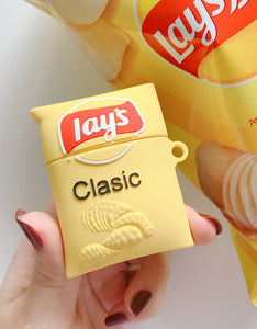 potato chips shaped silicone AirPods protector case