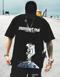 'mombert real' printed loose cool t-shirt