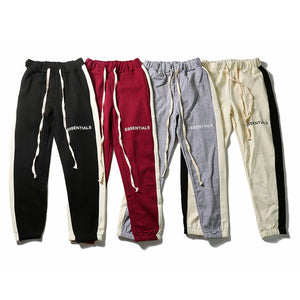 monogrammed  bouquet feet sweatpants men pants