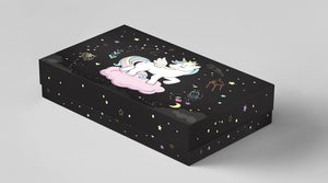 Gift box Unicorn Printed Galaxy background Gift boxes for her, for kids Christamas, valentine's day Gift box