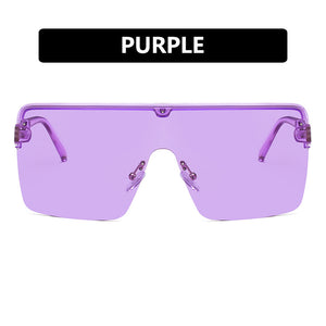 fashion square large frame women sunglasses