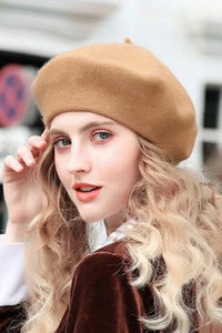 sweet slouchy solid color beret hat