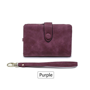 large capacity hasp hand strap purse