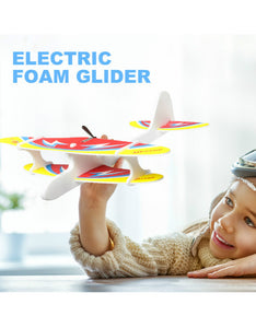 diy biplane glider foam powered flying plane rechargeable electric aircraft model