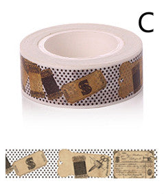 retro ruler pattern decorative sticker