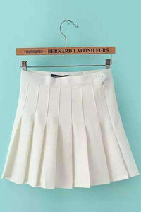Multicolor Girly Vintage Pleated Mini Tennis Skirt