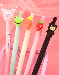 cartoon vegetables & animals students gifts mechanical pencil-set of 6
