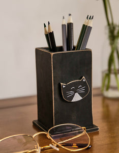 black cat pencil holder desktop decoration