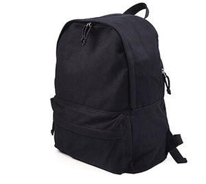 solid color canvas students backpack bag