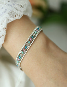 bohemian style color push-pull  adjustable beads bracelet