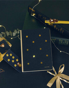 cute stars printed 6 piece stationery gift set