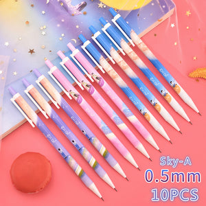 romantic starry sky mechanical pencil - set of 10