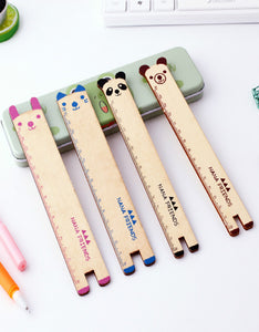 cartoon animal 15cm log ruler