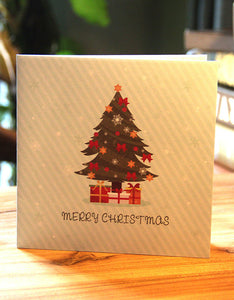 3D hollow out Christmas card