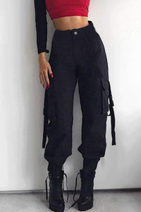 street chic ribbon harem pants