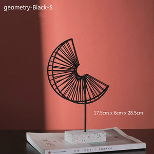 simple geometry iron art high quality desktop decoration