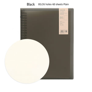 metal loose-leaf binder A5/B5 lined grid plain wired notebook