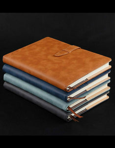 high-grade buckled business imitation leather notebook