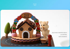 candy house music box christmas desktop decoration