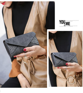 seamed PU elegant lady wallet
