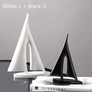 resin sailing office business gift desktop decoration