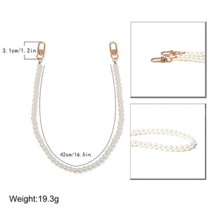 punk hip hop imitation pearls short waist pants chain
