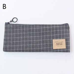 simple streak oxford cloth zipper pencil case
