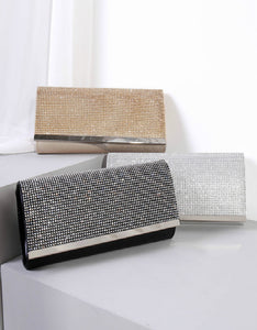 fashion dinner party sparkle diamond clutch