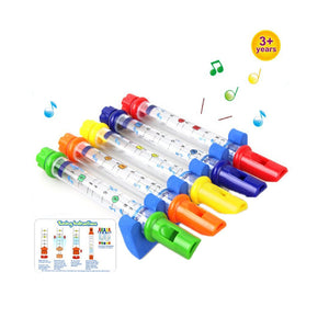 5-pieces colorful water flutes bath tub tunes music sounds kids bath toy