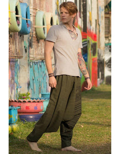 ethnic style printed comfortable loose pants