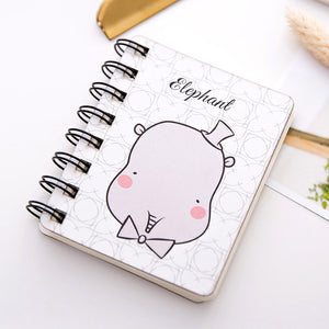 cute animal cover mini pocket wired notebook