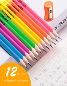 log with eraser pencil -12 pcs / set