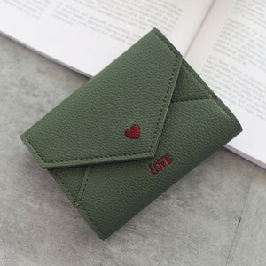 fashionable heart-shaped embroidery multifunctional  purse