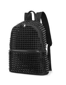 fashion rivet canvas backpack bag