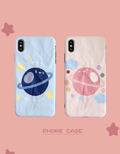 cartoon planet plicated designs frosted phone case