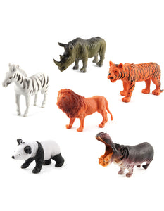 12pcs/set simulation wild jungle animals figure model toys
