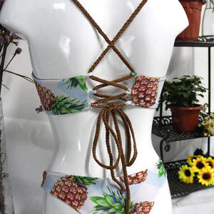Pineapple Print 2 pieces Bikini Set